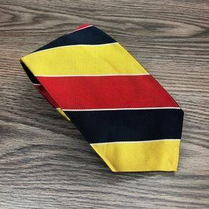 Robert Talbott Red, Gold, Navy & White Stripe Tie